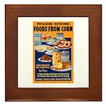 Foods from Corn Framed Tile