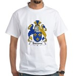 Burrows Family Crest White T-Shirt