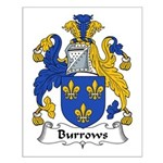 Burrows Family Crest Small Poster