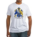 Burrows Family Crest Fitted T-Shirt