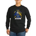 Burrows Family Crest Long Sleeve Dark T-Shirt