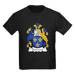 Burrows Family Crest Kids Dark T-Shirt