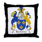 Burrows Family Crest Throw Pillow