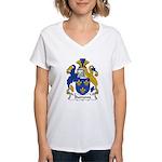 Burrows Family Crest Women's V-Neck T-Shirt