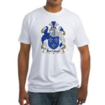 Burrough Family Crest Fitted T-Shirt