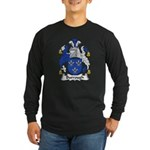 Burrough Family Crest Long Sleeve Dark T-Shirt