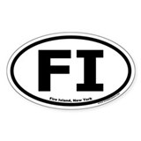 "Fire Island, NY ""FI"" Oval Decal"