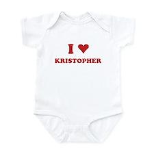 I LOVE KRISTOPHER Infant Bodysuit