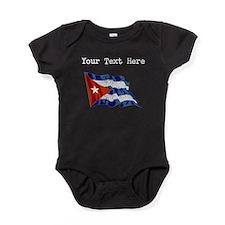 Cuba Flag (Distressed) Baby Bodysuit