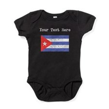 Cuba Flag (Distressed) Baby Bodysuit