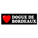 DOGUE DE BORDEAUX Bumper Car Sticker