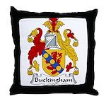Buckingham Family Crest Throw Pillow