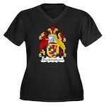 Buckingham Family Crest Women's Plus Size V-Neck D