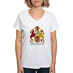 Buckingham Family Crest Women's V-Neck T-Shirt