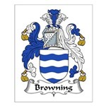 Browning Family Crest  Small Poster