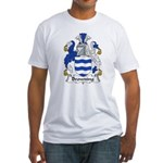 Browning Family Crest  Fitted T-Shirt