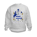 Browning Family Crest  Kids Sweatshirt