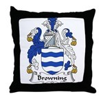 Browning Family Crest  Throw Pillow