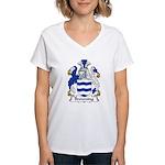 Browning Family Crest  Women's V-Neck T-Shirt