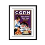 Corn Food of the Nation Framed Panel Print