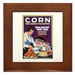 Corn Food of the Nation Framed Tile