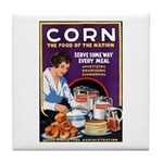 Corn Food of the Nation Tile Coaster