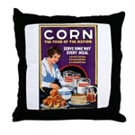 Corn Food of the Nation Throw Pillow
