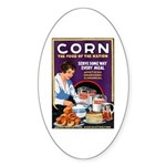 Corn Food of the Nation Oval Sticker