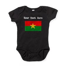 Burkina Faso Flag (Distressed) Baby Bodysuit
