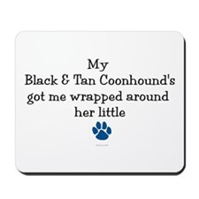 Wrapped Around Her Paw (BT Coonhound) Mousepad