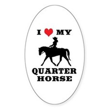 I Heart My Quarter Horse Decal