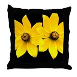 2 Yellow Daisies Throw Pillow