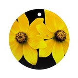 2 Yellow Daisies Ornament (Round)