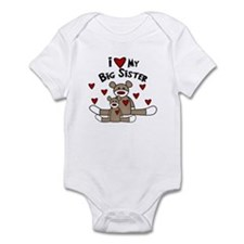 I Love My Big Sister SM Baby bodysuits