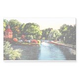 City Park Lagoon Rectangle Decal