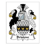 Bristow Family Crest  Small Poster