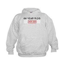 66 YEAR OLDS kick ass Hoodie