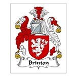 Brinton Family Crest  Small Poster