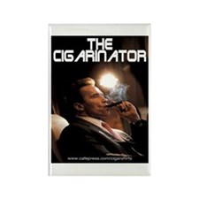 Arnold Schwarzenegger Cigar Rectangle Magnet (100