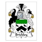 Brickley Family Crest  Small Poster