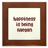 happiness is being Raegan Framed Tile