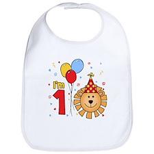 Cool Lion Face First Birthday Bib