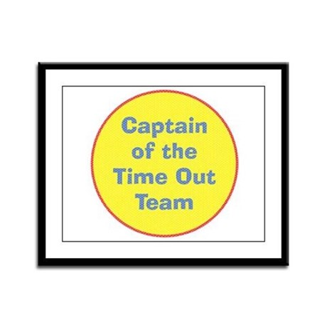 Time Out Team Captain Framed Panel Print