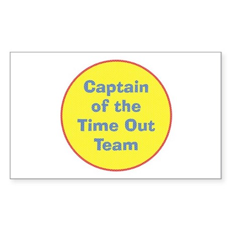 Time Out Team Captain Rectangle Sticker