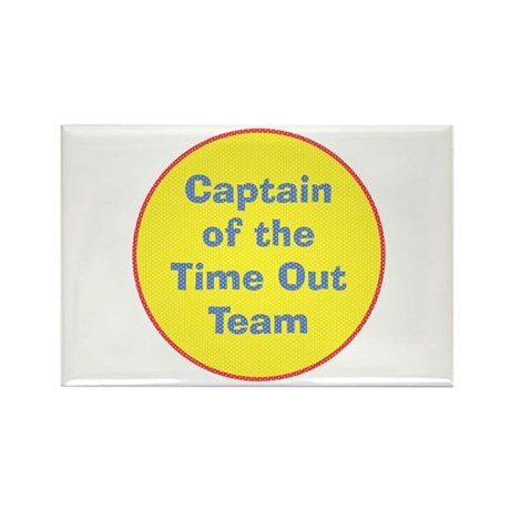 Time Out Team Captain Rectangle Magnet (100 pack)