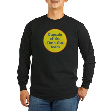 Time Out Team Captain Long Sleeve Dark T-Shirt