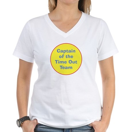 Time Out Team Captain Women's V-Neck T-Shirt