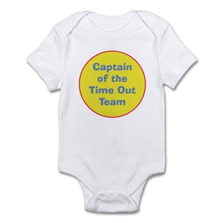 Time Out Team Captain Funny Baby Bodysuit