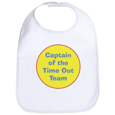 Time Out Team Captain Funny Baby Bib