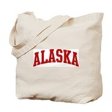 ALASKA (red) Tote Bag
